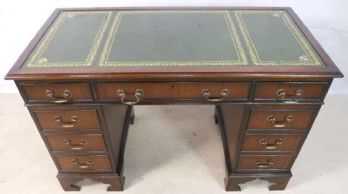 Antique Georgian Style Mahogany Leather Top Writing Desk - SOLD